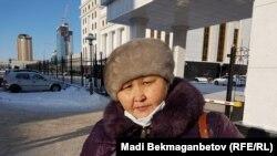 Кульжамал Кутумова, жительница Тараза, ставшая очевидцем самосожжения Майры Рысмановой. Астана, 7 декабря 2016 года.