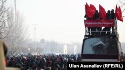 """Митинг сторонников партии """"Ата Мекен"""", Бишкек, 13 февраля 2013 года."""