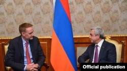 Armenia -- President Serzh Sarkisian receives Michael Carpenter, US Deputy Assistant Secretary of Defense, 2Nov, 2016