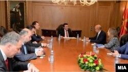 Премиерот Зоран Заев на состанок соделегација на ОБСЕ предводена од претставникот за слобода на медиумите Арлем Дезир.