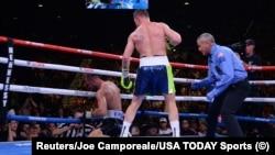 Мексиканець Сауль Альварес нокаутував росіянина Сергія Ковальова в бою за пояс чемпіона світу в напів важкій вазі (до 79,4 кілограма) за версією WBO