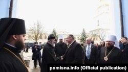 Архієпископ Климент, митрополит Епіфаній і держсекретар США Майк Помпео