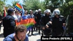 Первый гей-парад в Черногории в Будве, 24 июля