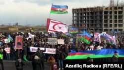 Several thousand attended the rally, which was held 10 kilometers from the city center.