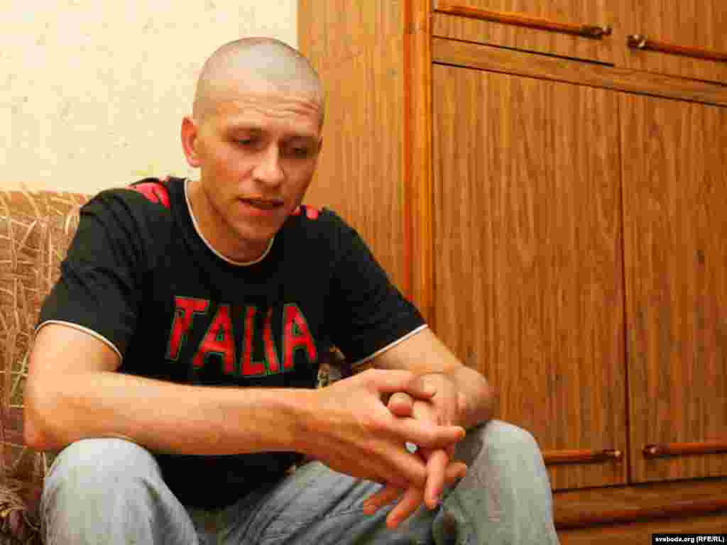 Dzmitry Daronin is a Minsk native who was arrested in March.