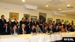 Potpisivanje koalicije 12 opozicionih stranaka, Foto: Savo Prelević