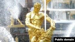 """Фонтан """"Самсон"""" в Петергофе"""