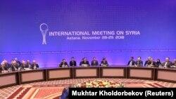 11-й раунд переговоров в рамках так называемого Астанинского процесса по Сирии. Астана (после переименования в марте — Нур-Султан), 29 ноября 2018 года.