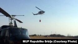 Tri helikoptera MUP-a Srbije angažovana su u Pčinjskom okrugu na jugu Srbije