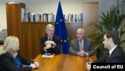 Pamje nga bisedimet e mëparshme Kosovë – Serbi në Bruksel