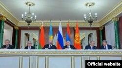 Қырғызстанның ЕАЭО-ға мүшелікке қабылдану жиыны. Мәскеу. 23 желтоқсан, 2014 жыл.