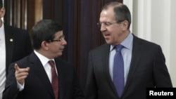 Ռուսաստանի եւ Թուրքիայի արտգործնախարարների հանդիպումը Մոսկվայում, 25-ը հունվարի, 2012թ.