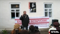 Уладзімер Някляеў на сьвяце ў Гарошкаве, 2009 год