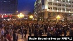 Մակեդոնիա - Բողոքի ակցիան մայրաքաղաք Սկոպյեում, 20-ը ապրիլի, 2016թ․