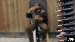 یکی از شورشیان سوری در حلب