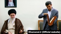 Will Supreme Leader Ayatollah Ali Khamenei (left) patch things up with ex-President Mahmud Ahmadinejad?