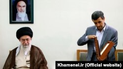 Did Supreme Leader Ali Khamenei (left) tell Mahmud Ahmadinejad (right) not to run again?