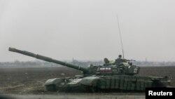 یک تانک روسی در اختیار جدایی طلبان اوکراین