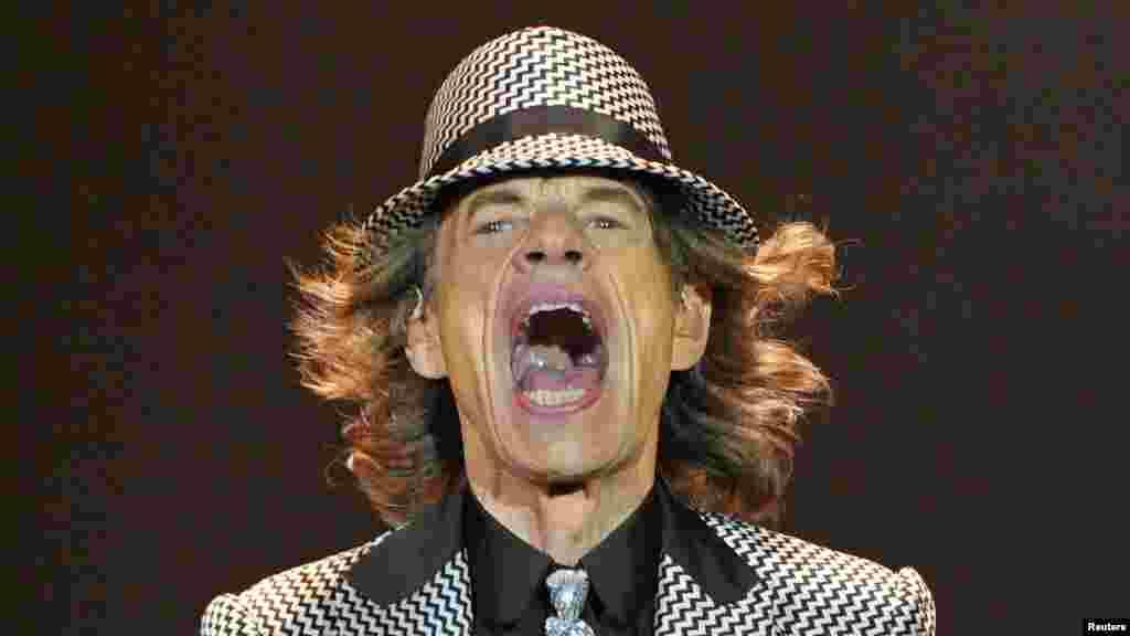 Velika Britanija - Mick Jagger na proslavi zlatnog jubileja Rolling Stonesa u Londonu, 25. novembar 2012. Foto: REUTERS / Toby Melville