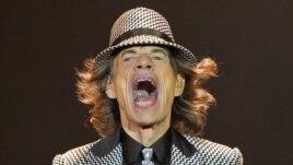 Mick Jagger tokom koncerta u O2 Areni u Londonu
