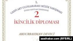 Eýranly türkmen Abdyrahman Düýejiniň ikinjilik diplomy