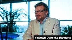 Евгений Киселев, журналист и ведущий украинского телеканала «Прямой». Киев, 4 июня 2018 года.