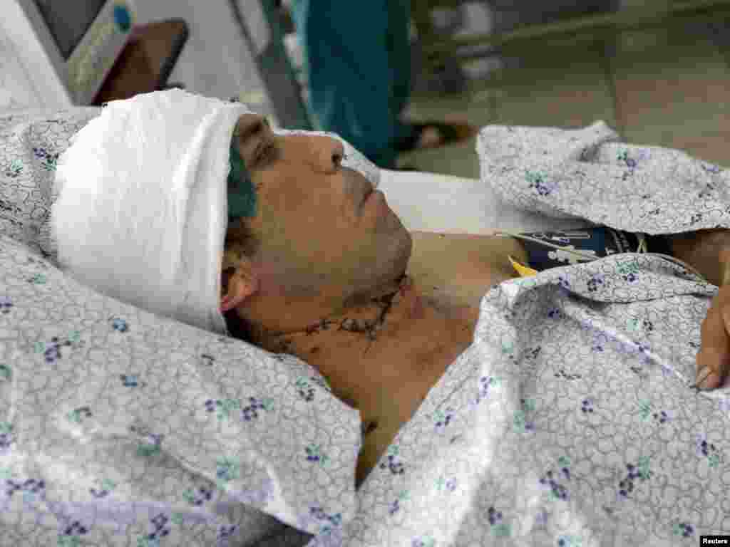 37 жастағы Маматалиев Еркин жараланып, Әндіжан ауруханасында жатыр. 18 маусым 2010 жыл.