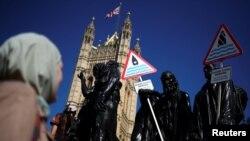Акция за климат в Лондоне