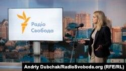 Керівник української редакції Радіо Свобода Мар'яна Драч на презентації нового офісу у Києві, 10 жовтня 2018 року