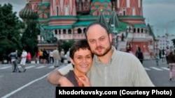 Vladimir Kara-Murza and his wife, Yevgeniya (file photo)
