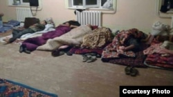 Uzbekistan - students who are picking cotton sleeping in such places