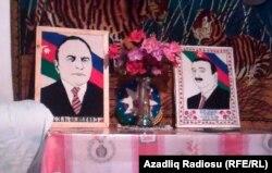 Heydər və İlham Əliyevin xalça üzərində çəkilən şəkilləri