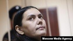 Гюльчехра Бобокулова в суде в Москве. 2 марта 2016 года.
