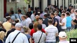Протест за изградба на црквата Св. Константин и Елена пред Општина Центар во Скопје на 6 јуни 2013.