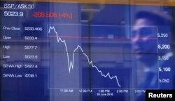 بازار بورس اساندپی/ایاساکس ۵۰ در استرالیا ۴ درصد افت کرده است