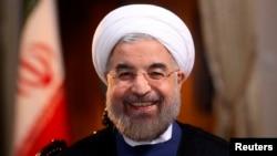 Иран президенті Хассан Роухани NBC телеарнасына сұхбат беріп отыр. Тегеран, 18 қыркүйек 2013 жыл.