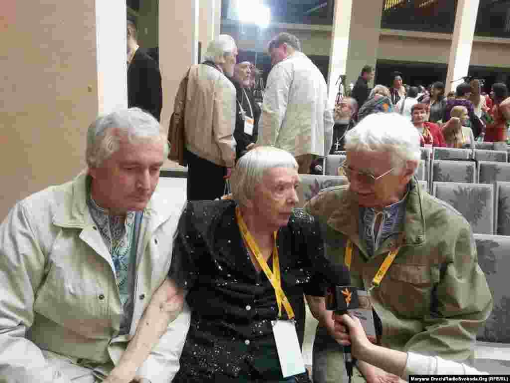Василь Овсієнко, Людмила Алексєєва, Євген Сверстюк, Київ, травень 2014 року