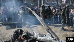 Сбитый самолет в Кашмире, 27 февраля 2019 года