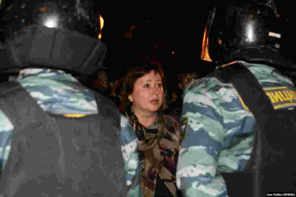 Ольга Романова лагере на Баррикадной 16 мая