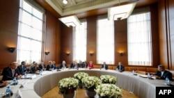 Pamje nga një takim i mëparshëm në Gjenevë për programin atomik iranian