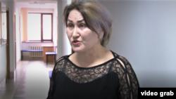 Кунсулу Боримбекова, восстановленная после увольнения учительница средней школы № 43 города Тараза. Жамбылская область, 24 февраля 2020 года.