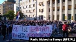 Protest protiv epidemioloških mera u Novom Sadu, 8. jul