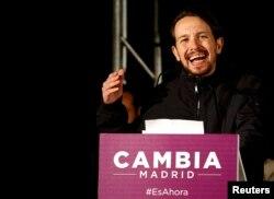 """Выступление лидера движения """"Подемос"""" Пабло Иглесиаса"""
