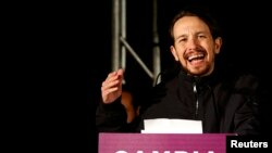 Podemos partiyasının lideri Pablo Iglesias