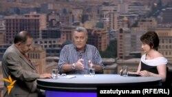 Աղվան Վարդանյանը և Ռուբեն Հակոբյանը «Ազատության» տաղավարում, 22-ը օգոստոսի, 2015թ․