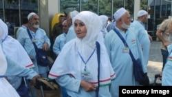 Душанбе әуежайындағы тәжік қажылары. 14 қыркүйек 2014 жыл