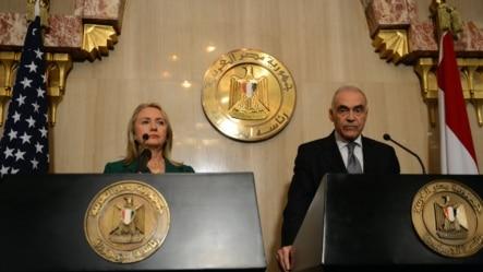 Mohammed Kamel Amr i Hilary Clinton, Kairo, 21. novembar 2012