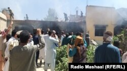 Members of Mangal tribe burnt down four houses of people accused of killing seven members of a rival family.