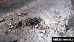Місце обстрілу у Маріуполі, 24 січня 2015 року (фото з сайту МВС України)