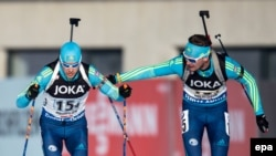 The biathlon world championships are taking place in Hochfilzen, Austria.